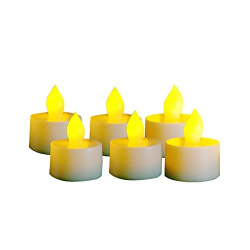 Candle Choice Set Of 6 Flameless Tealightstea Lights With Dual-time 400-hour Battery Life