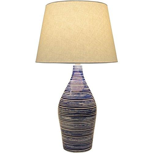 Cooke Table Lamp With Glazed Ceramic Base - Ceramic Linen