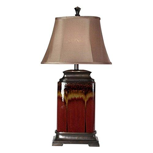 StyleCraft Dripping Glaze Ceramic Table Lamp