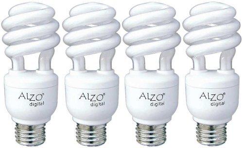 ALZO 15W Joyous Light Full Spectrum CFL Light Bulb 5500K 750 Lumens 120V Pack of 4 Daylight White Light Model 1855-55-04-JL Tools Hardware store