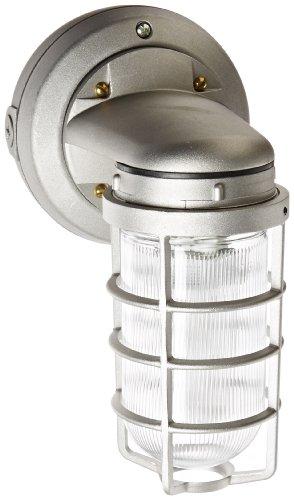RAB Lighting VXBR1F26 Vaporproof Wall Bracket CFL Lamp with Clear Prismatic Glass Globe Triple Type Aluminum 26W Power 1800 Lumens 277V 12 Hub Natural