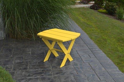 POLY Furniture Oval End Table - Amish Made USA - Lemon Yellow