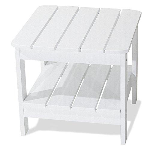 Majestic Home Goods Laguna Collection Adirondack Table White