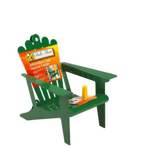 Belle Fleur Adirondack Chair Squirrel Feeder Green 1 Corn Cob Capacity