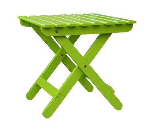 Shine Company Adirondack Folding Side Table Lime Green