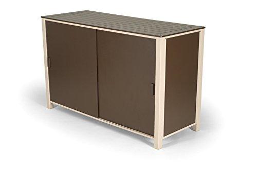 Telescope Casual Furniture Patio Storage Box Shelf with Textured Snow Frame Finish 25x 64