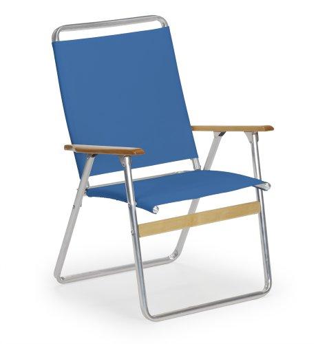 Telescope Casual Original Highback Folding Beach Arm Chair Cobalt