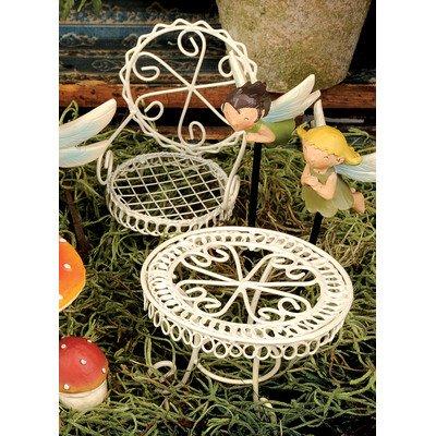 2 Piece Fairy Garden Table and Chair Figurine Set