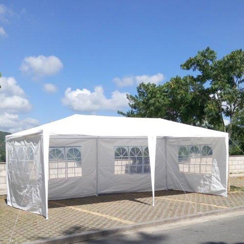 FCH 10x20Outdoor Patio Party Canopy Tent Wedding Outdoor Tent Heavy duty Gazebo Pavilion For Waterproof 4 Window SideWalls