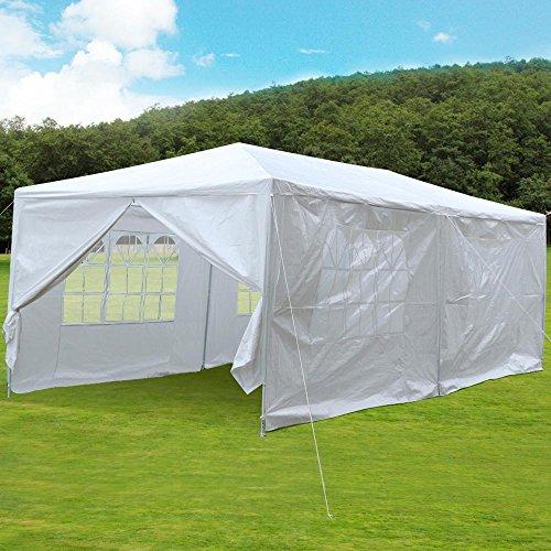 Yaheetech 10ft X 20ft Party Wedding Tent Patio Garden Outdoor Gazebo Canopy with 4 Sidewalls 2 Doors