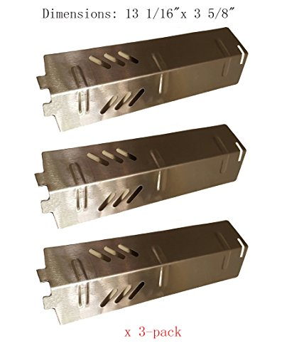 Sh15613-pack Stainless Steel Heat Plate Burner Cover And Flavorizer Bar Replacement For Gas Grill Model Backyard