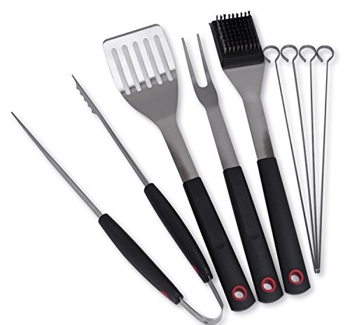 Culina Grilling BBQ Tool Set 8-pc Stainless Steel Soft Touch Handle