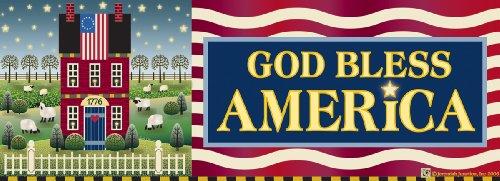 God Bless America Art-SnapsMagnetic Mailbox Art