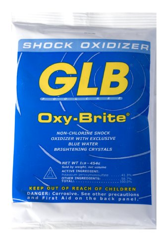 GLB Pool and Spa Products 71414 1-Pound Oxy-Brite Pool Water Shock