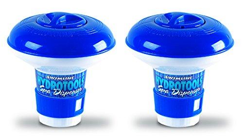 2 New Hydrotools 8715 Pool Mini Chlorine Tablet Floating Chemical Dispensers
