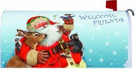 Santas Friends - Deer Raccoon - Mailbox Makeover Cover Magnetic