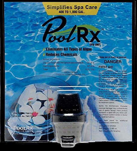Poolrx 101055 Black Spa Unit Swimming-pool-algaecides 400-1000 Gallon