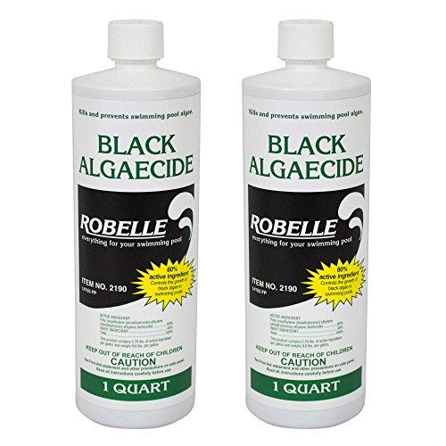 Robelle 2190-02 Black Algaecide For Swimming Pools 2 Pack 1 Quart