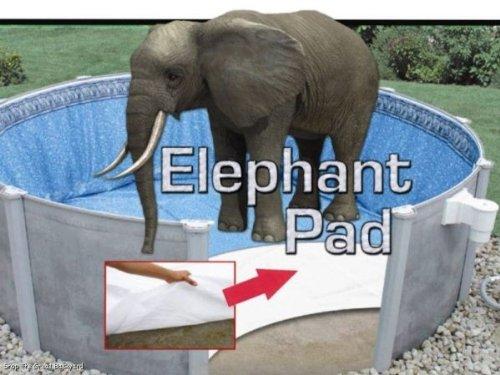 15 Ft Round Pool Liner Pad Elephant Guard Armor Shield Padding