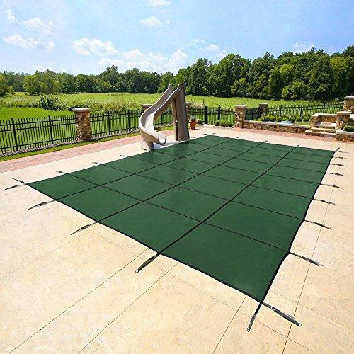 Yard Guard Deck Lock Rectangle Mesh 18x36 Inground Swimming Pool Safety Cover