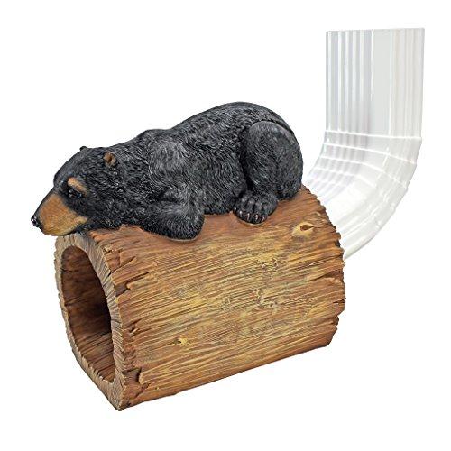 Design Toscano Black Bear Gutter Guardian Downspout Statue