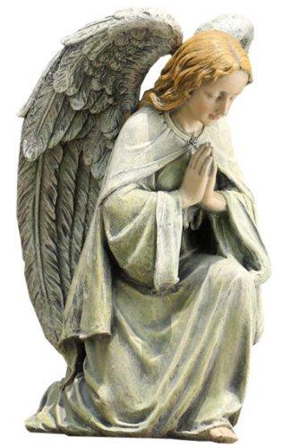 Napco Kneeling Angel Garden Statue 11-34-Inch Tall