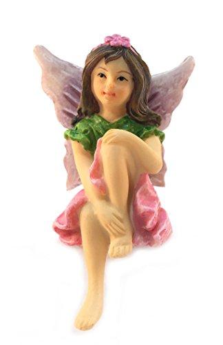 Emma the Sitting Garden Fairy - a Miniature Fairy Statue for Your Fairy Garden