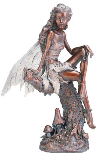 Napco Bronze Fairy Figure Garden Statue 13-inch Tall