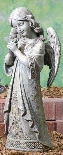 15&quot Josephs Studio Praying Celtic Irish Angel Outdoor Garden Statue