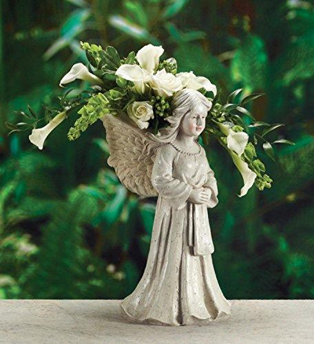 19 Decorative Praying Angel Statue Planter or Outdoor Patio Garden Bird Bath