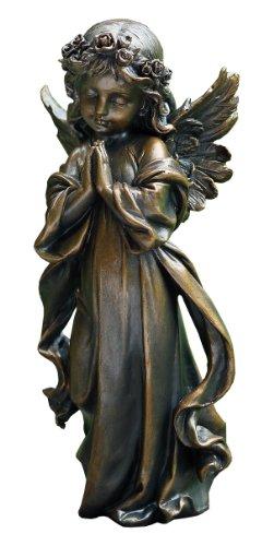 Napco Praying Angel Girl Statue Bronze Finish