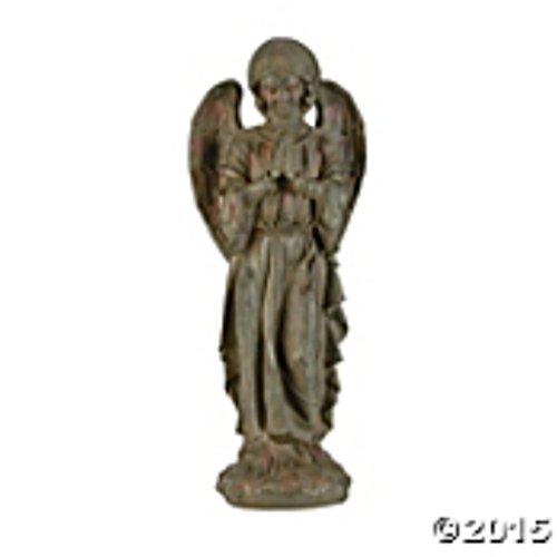 Praying Angel Statue Lawn Garden Sculpture Yard Art Resin Stone Look Statuary Figure Porch Patio Sunroom