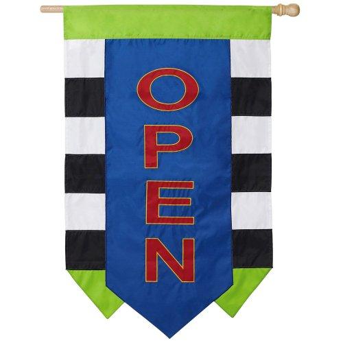 Open Vertical Flag