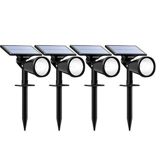 Mpow 4-Pack Solar Spotlight Solar Powered Landscape Outdoor Lighting Wall Spot Light for Lawn Flag