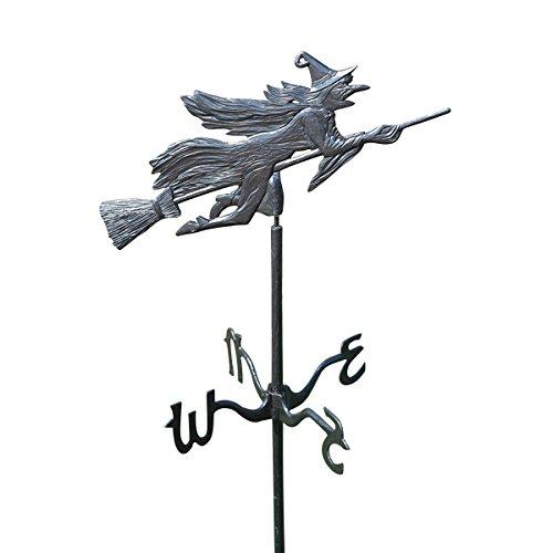 Design Toscano Windblown Wicked Witch Metal Weathervane Garden Stake
