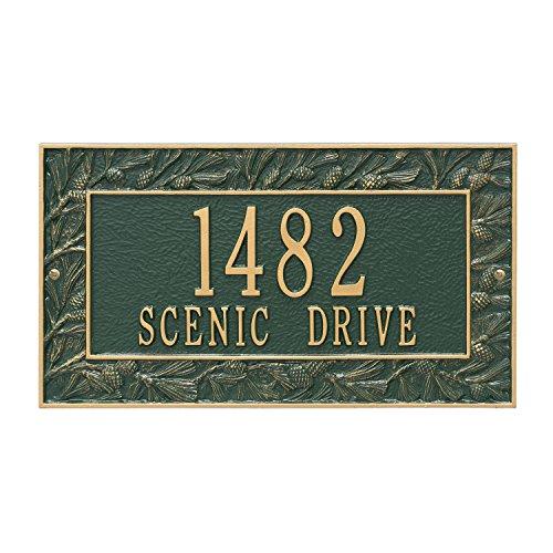 Custom 2 Lines Pinecone WALL Address Plaque 16Wx9H