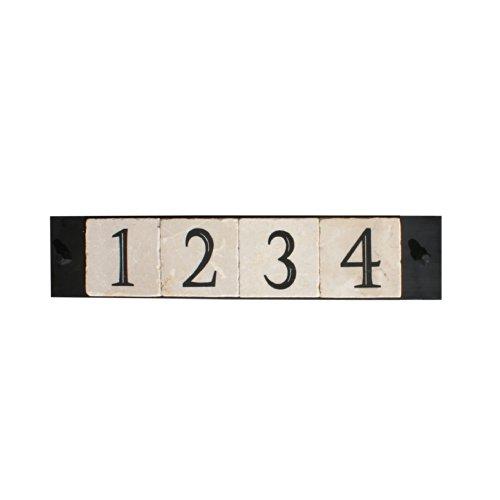NACH KA-PLATE&SCREWS-4 House AddressNumber Sign Plaque