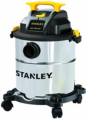 Stanley 6 Gallon Wet Dry Vacuum 4 Peak HP Stainless Steel 3 in 1 Shop Vac Blower with Powerful Suction Multifunctional Shop Vacuum W 4 Horsepower Motor for Job SiteGarageBasementVanWorkshop