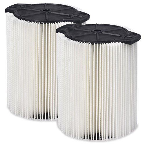 WORKSHOP Wet Dry Vac Filters WS21200F2 Standard Wet Dry Vacuum Filters 2-Pack - Shop Vacuum Filters For WORKSHOP 5-Gallon To 16-Gallon Shop Vacuum Cleaners