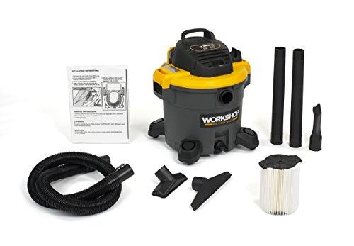 WORKSHOP Wet Dry Vac WS1200VA Heavy Duty General Purpose Wet Dry Vacuum Cleaner 12-Gallon Shop Vacuum Cleaner 50 Peak HP Wet And Dry Vacuum