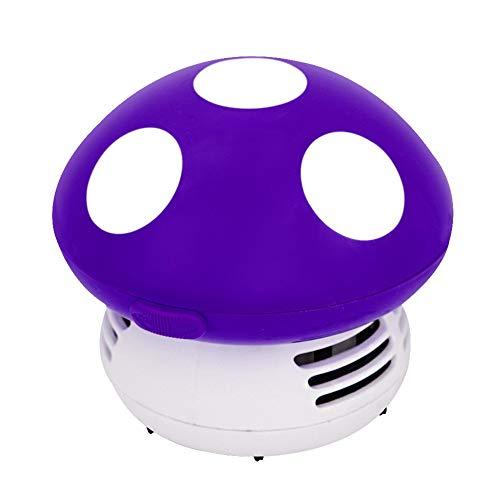 Small Vacuum Cleaner Creative Desktop Vacuum Cleaner Cartoon Mushroom Mini Keyboard Dust Collector Purple