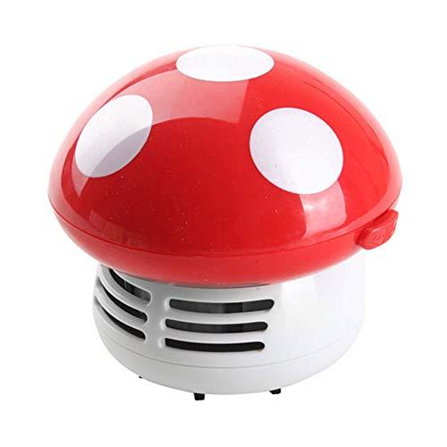 VeliHome Desktop Small Vacuum Cleaner Small Premium Vacuum Cleaner Desktop Cartoon Mushroom Mini Keyboard Dust Collector for Home Office