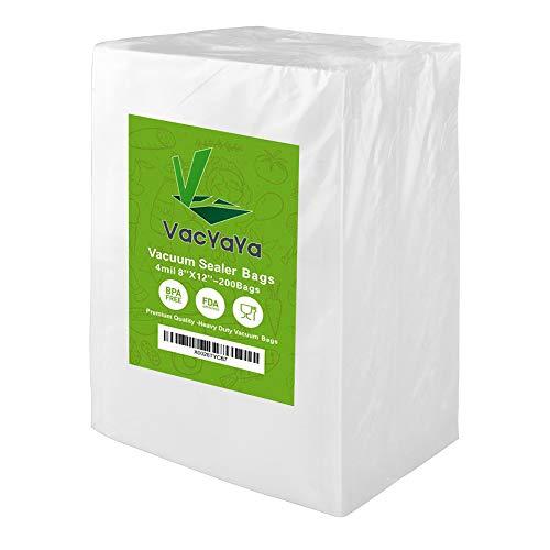4mil 200 Quart8 x 12 Inch Size Vacuum Sealer Storage Bags for Food SaverPreCut Heavy Duty Vacuum Seal a Meal Food Saver Bag