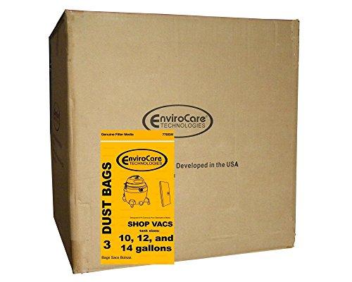 EnviroCare Half Case of ShopVac 10 12 14 Gallon Heavy Duty Vacuum Cleaner Bags