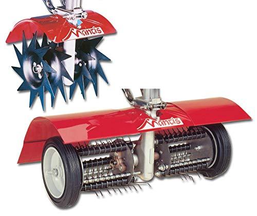 Mantis 7321 Power Tiller AeratorDethatcher Combo Attachment for Gardening Renewed