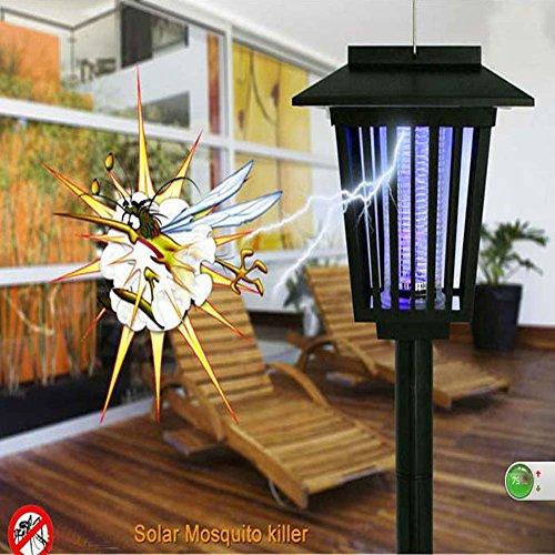 Led Solar Bug Zapper Lights Garden Decoration Outdoor Pest Repellent Light Mosquito Killer Lamp Uv Light White Led - GardenLantern Landscape Yard Pathway Camping Light