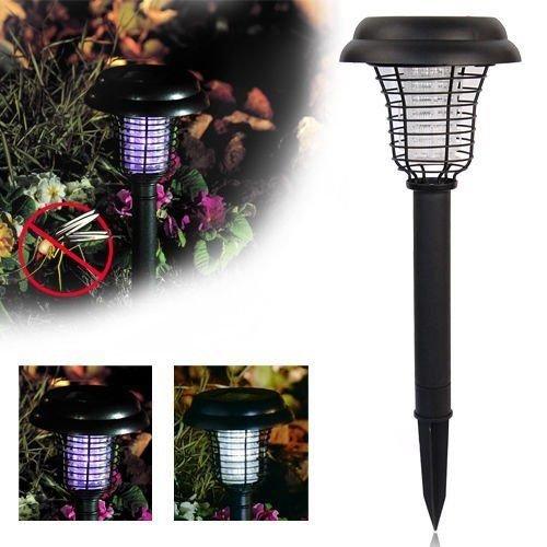 SmilingtreeSolar LED Lights UV Mosquito Bug Zapper Killer Lawn Lamp For Outdoor Garden Yard