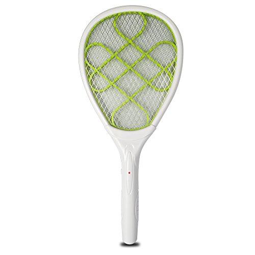 YT Indoor OutDoor Bug Zapper Mosquito Swatter RacketWhite