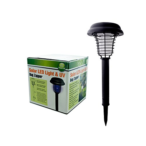 Kole Imports OC277 Solar LED Light and UV Bug Zapper