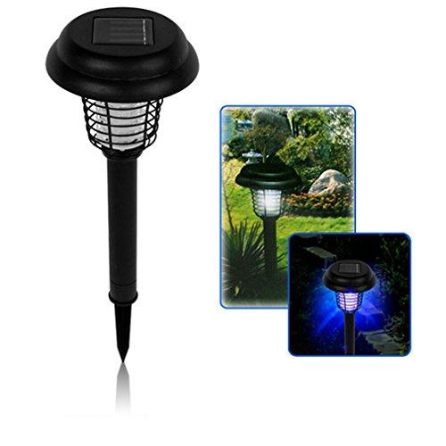 Super Bright White Solar Uv Garden Yard LED Lamp Light 110062 Bug Zapper Pest Insect Mosquito Killer